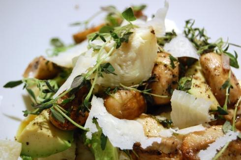 Salat med artisjokk og sopp